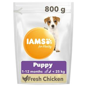 IAMS for Vitality Dry Puppy Food Small & Medium Breed with Fresh Chicken 800g
