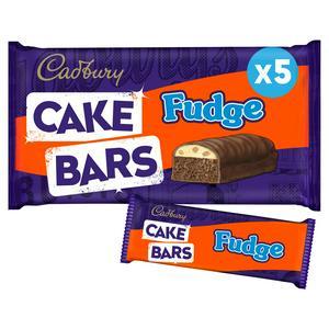 Cadbury Fudge Cake Bars x5