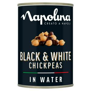 Napolina Black & White Chickpeas in Water 400g