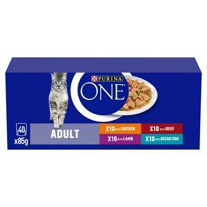 Purina One Adult Cat Food Mini Fillets in Gravy 40x85g