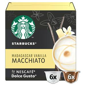 Starbucks by Nescafe Dolce Gusto Madagascar Vanilla Macchiato Coffee Pods, 12 Pods Per Box