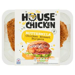 The House of Chicken Buttermilk British Chicken Breast Burgers x2 300g