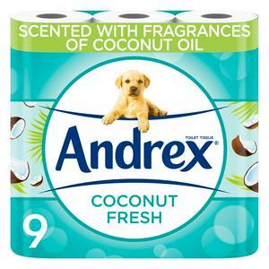 Andrex Coconut Fresh Toilet Tissues x9